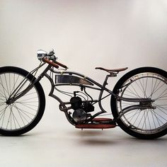 "Torpedo ""E"" drive Steampunk Motorcycle, Motorcycle Bike, Cruiser Bicycle, Motorized Bicycle, Vintage Bikes, Vintage Motorcycles, Gas Powered Bicycle, Bicycle Engine, Motorised Bike"
