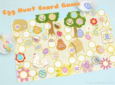 Easter Egg Hunt Board Game - Mr Printables