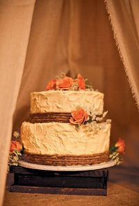 Rustic Wedding Cake buttercream-frosted wedding cake | Tim Tab Studios
