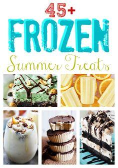 45+ Frozen Treats you MUST make this summer!