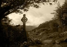 """This was taken in Glendalough in Co. Wicklow, Ireland. The name is a derivative of an Irish language phrase meaning """"The Glen of Two Lakes"""" which is a perfect description of this lovely valley. The location is the site of a Christian monestery founded by St. Kevin and his monks in the 6th century."""