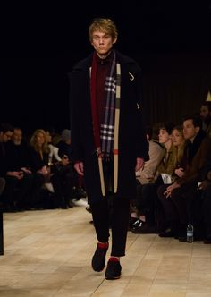 Navy oversize double-faced wool blend duffle coat with slim-leg tracksuit trousers