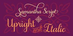 This script font is pretty. Samantha Script Font Free Download
