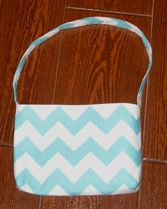 Aqua Chevron toddler purse - pinned by pin4etsy.com