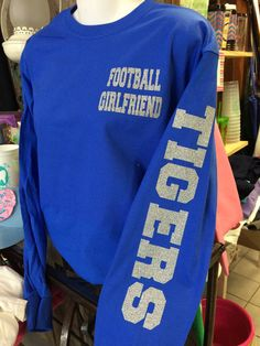 Football Girlfriend Long Sleeve with Mascot Name by TheShirtPlace