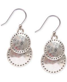 Lucky Brand Silver-Tone Double Drop Earrings