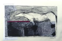 Drypoint etching with chine colle