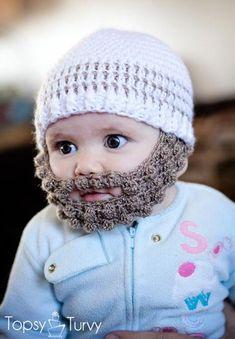Crochet Bobble Beard pattern