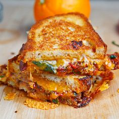 Sweet Chili Chicken Grilled Cheese Sandwich