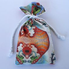 Original Designer Fabric Wrap Bag for Oracle Cards - Elements - Limited Edition
