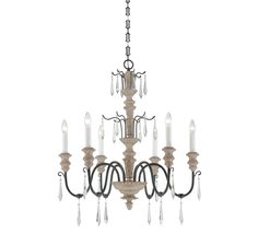 1-4340-6-192 Madeliane 6 Light Chandelier by Savoy House