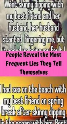 People Reveal the Most Frequent Lies They Tell Themselves My Best Friend, Best Friends, Go Skinny Dipping, Viral Trend, Mesh Long Sleeve, Tie Neck Blouse, Heart Patterns, Club Outfits, Funny Pins