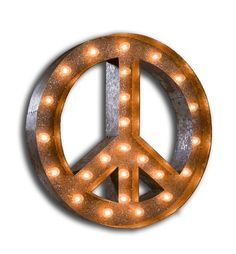 Vintage Marquee Lights - Peace Sign....$229.00.