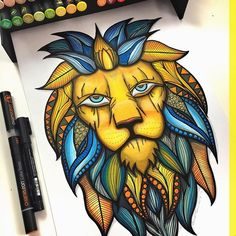 Really love this amazing Lionheart design created by @mrasingh with their Chameleon Pens!