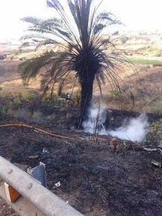 Tamaraceite: Incendio en la Carretera a San Lorenzo