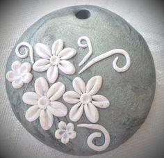 Handmade Polymer clay pendant necklace by HandmadeMemoriesLis
