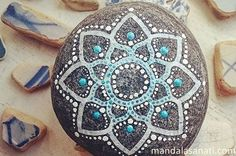 mandala taş boyama yapımı