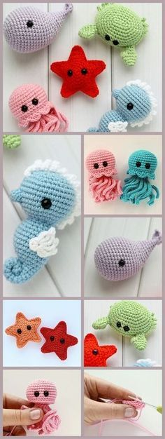 Crochet patterns step by step crochet toys amigurumi crochettoys .Crochet patterns step by step crochet toys amigurumi crochettoys handmade tutorial diy croch - knitting ideCrochet Collection Toys / Unique Gift for girlfriend / Crochet Simple, Crochet Diy, Crochet Crafts, Crochet Dolls, Yarn Crafts, Crochet Projects, Diy Projects, Crochet Ideas, Animal Projects