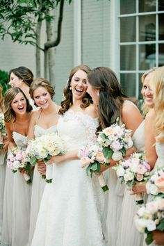 Pale Gray Amsale Bridesmaids Dresses | photography by http://www.kristynhogan.com
