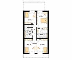 Projekt domu Amarylis 4 - rzut piętra/poddasza Good House, Small House Plans, Planer, Floor Plans, House Design, Flooring, How To Plan, Houses, Dreams