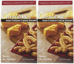 Geraldine's Cheese Straws, Traditional, 4.5 oz, 2 pk - http://mygourmetgifts.com/geraldines-cheese-straws-traditional-4-5-oz-2-pk/