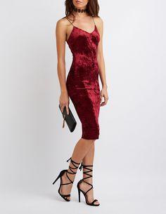 Velvet Bodycon Midi Dress | Charlotte Russe