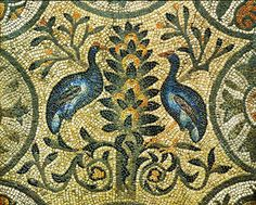 Tree of Life allegory with birds, 4th century, Acquileia, Italy.