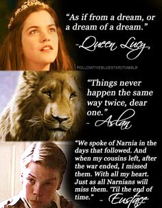chronicles of narnia quotes {lucy, aslan, eustace}