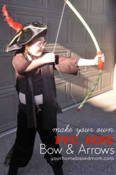 Make your own PVC Pipe Bow & Arrows- what kid wouldn't love this?!