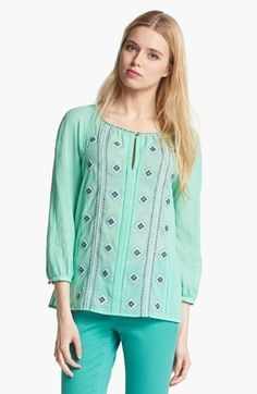 Tory Burch 'Lucille' Embroidered Top    $350.00