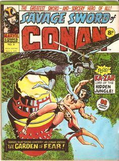 Savage Sword of Conan. No. 9. U.K. Marvel Comic. 3rd May 1975.