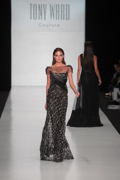 Miss Universe 2013 Gabriela Isler walking down the Runway at the Tony Ward Show, part of the Mercedes-Benz Fashion Week Russia October 26th 2013