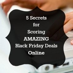 Shop the deals in your pj's!!! 5 Black Friday Online Shopping Secrets