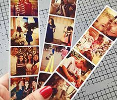 How to Make Instagram Photostrips by collegeprepster - Lovely idea to make as bookmarks to gift to volunteers
