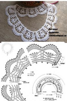 Crochet Patterns Jumper * White collar - All in azure .Free crochet chandelier necklace pattern with video tutorial from bhooked by britanny featured in recent sova enterprises com newsletter – Artofit Crochet Collar Pattern, Col Crochet, Crochet Lace Collar, Crochet Lace Edging, Crochet Leaves, Thread Crochet, Irish Crochet, Crochet Crafts, Crochet Flowers
