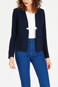 Jackets   Contempo Fashion Co-ordinator   Navy Career, Navy, Sweaters, Jackets, Fashion, Down Jackets, Moda, Carrera, Fashion Styles