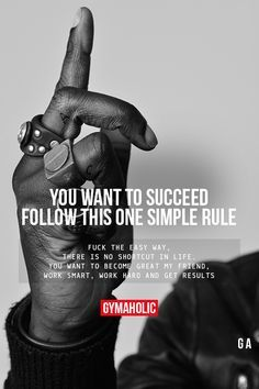 You Want To Succeed, Follow This One Simple Rule #fitness #inspiration #motivation #fitspiration #health