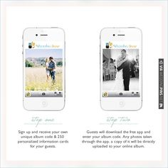Create albums with photos from your guests with Wedding Snap | VIA #WEDDINGPINS.NET