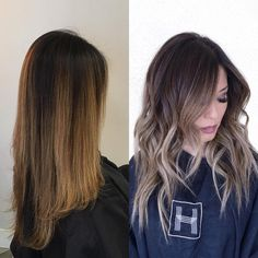 """Before & After • @habitsalon"""
