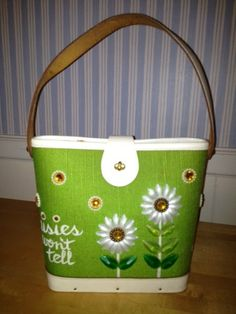 "ENID COLLINS ""daisies won't tell"" bucket bag"