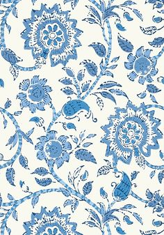 SEVITA, Blue and White, T64110, Collection Caravan from Thibaut