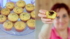 MUFFINS CUOR DI NUTELLA Ricetta Facile -  Nutella Heart Muffins Recipe