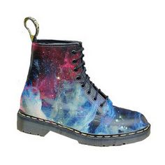 I love my Doc Martens and i think I almost could wear these....Dr Martens boots - space #Universe, #Blue