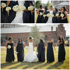 greenville sc wedding photographers photographer weddings at zen, strapless wedding gown with lace overlay, blue wedding shoes and birdcage veil, wedding day jewelry, wedding hairstyle for short hair, navy blue bridesmaid dresses, white wedding bouquets