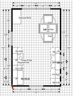 Kitchen Floor Plans For AGreat House: Medium Kitchen Floor Plans Dining  Table With Chairs ~ Part 46