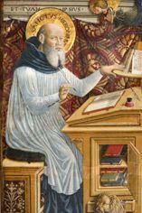 Domenico Bonfigli, Pietà e santi, particolare.