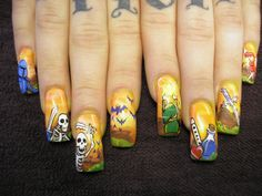 Omg, Legend of Zelda nails! Like anyone would have the time to paint that.