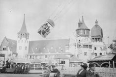 Coney Island Luna Park Aerial Swing 4x6 1920s Reprint Of Old Photo