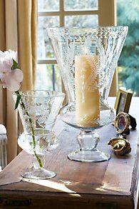 French Engraved Vases