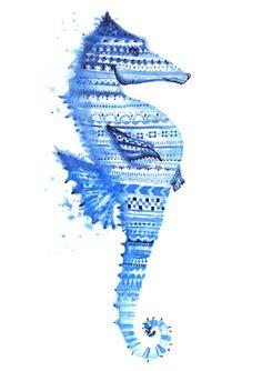 Seahorse - Watercolor work Kenya Dias kenyacorreiadias@gmail.com